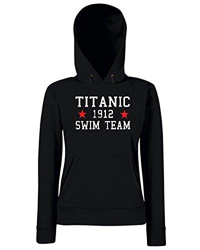 T-Shirtshock - Felpa Donna Cappuccio TR0138 Titanic Swim Team T-Shirt, Taglia M