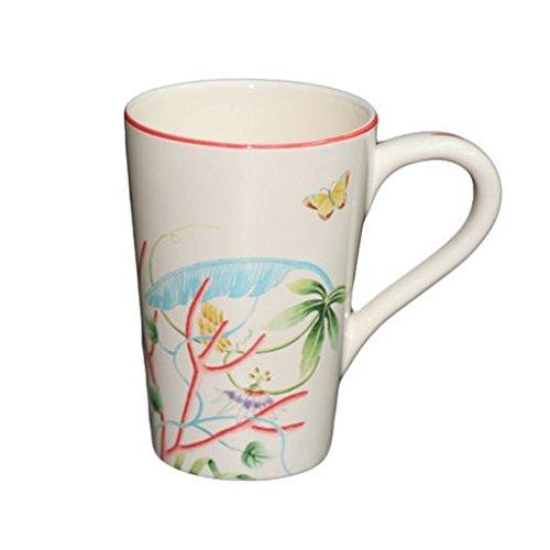 Faïencerie de Niderviller Mug Extra Large Fleur de Corail 60cL faïence - Lot de 2