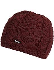 Eisbär Mütze Mirella, Otoño-invierno, unisex, color burdeos, tamaño S, M, L o XL