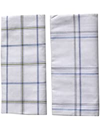 Mandhania Men's 100% Cotton Checks Lungi (2m, Assorted, LGW201) - Pack of 2