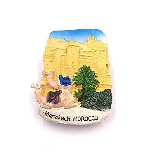 Bella Magnet Frigo Aimant Frigo Aimant Réfrigérateur Voyage Vacances Souvenir de Marrakech Maroc Fridge Magnet Sticker Décor Maison