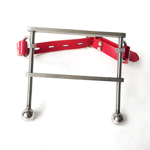 (FUBULECY Männlicher Sklave des Edelstahlmundstopfenmund-Spielzeugs (Color : Red))