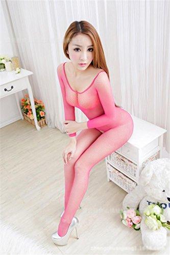 ALUK-Europa-e-negli-Stati-Uniti-High-end-Net-vestiti-petto-seno-Hollow-Lace-siamese-sexy-biancheria-intima-rosa
