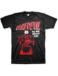 Officiellement Marchandises Sous Licence Marvel Comics Daredevil 3XL,4XL,5XL Hommes T-Shirt (Noir)