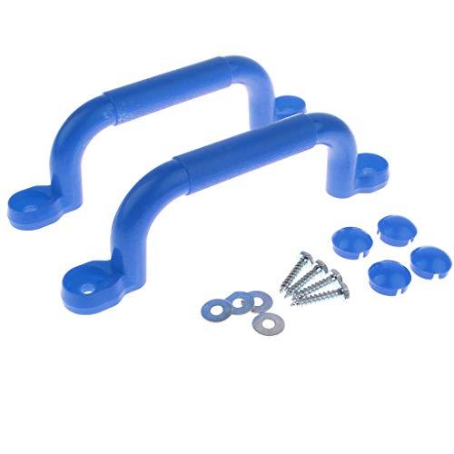 Homyl 1 Paar hochwertige Haltegriffe Handläufe, Ideal für Klettergerüste, Baumhäuser und Spielhaus - Blau