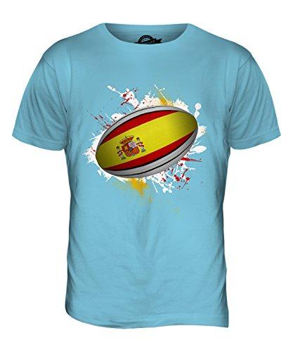 CandyMix Spanien Rugby Ball Herren T Shirt Himmelblau