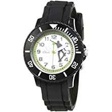 s.Oliver Unisex Child Analogue Quartz Watch with Silicone Strap SO-3765-PQ