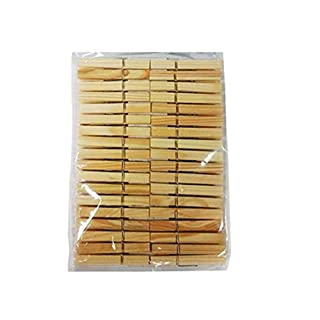 St@llion 75mm Large Wooden Pegs Clips For DIY Arts & Crafts For Wedding Hanging Photo Hardwood Clothes Pegs (Pack of 36)