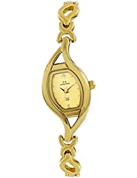 Maxima Analog Gold Dial Women's Watch - 25570BMLY