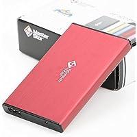 MasterStor externa unidad de disco duro USB 3.0 SATA de 2,5 pulgadas portátil súper rápido disco duro disco duro portátil MasterStor garantía de 2 años ROJO (250GB)