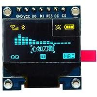HiLetgo 2,43 cm SPI Serial 128X 64OLED Pantalla LCD SSD1306para 51STM32Arduino color de fuente amarillo y azul.