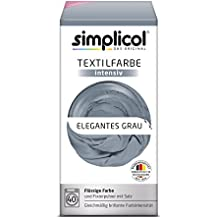 Simplicol Textilfarbe intensiv I Textilfärbung für die Waschmaschine I Färbemittel und Fixierpulver | Elegantes Grau 1817