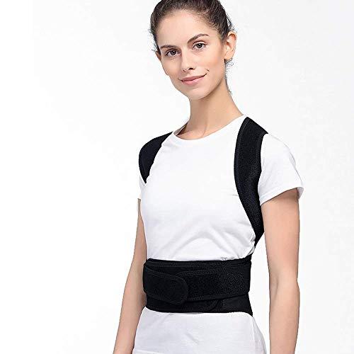 CBCR Posture Corrector für Männer und Frauen, Wirbelsäulen- und Rückenstütze, Schmerzlinderung für Nacken, Rücken, Schultern, verstellbare und atmungsaktive Rückenstütze verbessert die Körperhaltung u