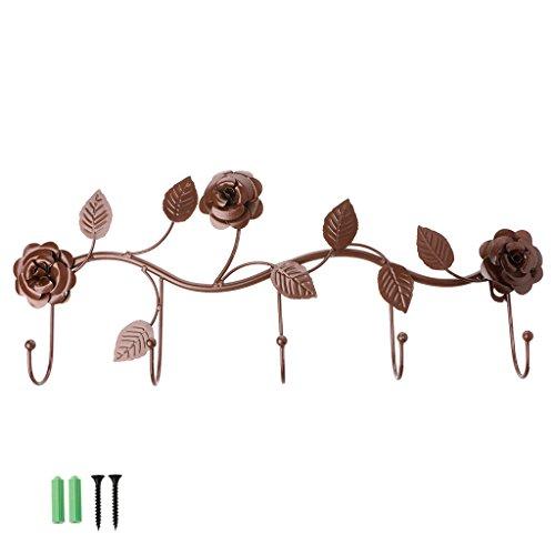 KINTRADE Vintage Rose Colgante Pared Gancho Hierro