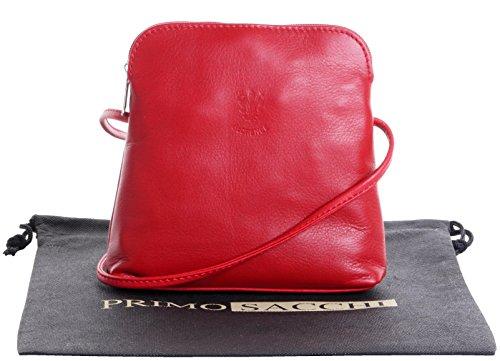 Echte italienische weiches Leder, klein/Micro rotes Kreuz Körper oder Umhängetasche Handtasche.Enthält Marken schützenden Aufbewahrungstasche. (Napa Kleine Leder)