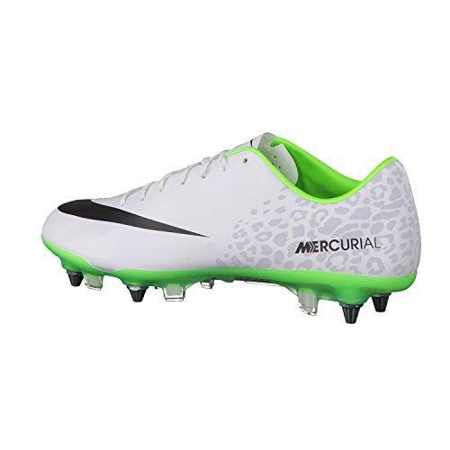 Nike Damen W Nsw Crew Crop Swsh Langarm Oberteil, White Black Electric Green Barely Rose/Bianco