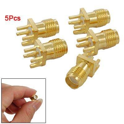 Gold Pc Mount (SODIAL(R) Leiterplattenmontage SMA-Buchse gerade HF Anschluss Adapter 5 St¨¹ck)