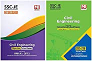 SSC JE : Civil Engineering - Objective + Conventional Solved Papers (Set of 2 books)