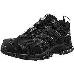 Salomon XA Pro 3D GTX, Calzado de Trail Running, Impermeable para Mujer, Negro Black/Mineral Grey, 36 EU