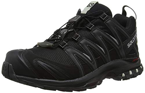 Salomon XA PRO 3D GTX W, Scarpe da Trail Running Donna, Nero Black/Mineral Grey), 42 2/3 EU