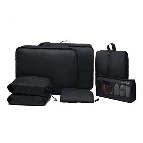 WindTook 7 Set Reise Kleidertaschen Kofferorganizer Packtaschen Reisegepäck Organizer mit Wäschesack Schuhbeutel Kosmetik Kulturbeutel Reisetaschen