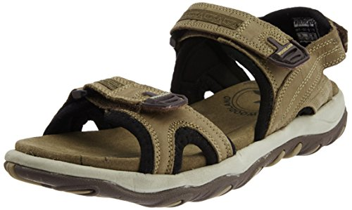 b65d6a560262 Woodland 8903542738924 Mens Khaki Leather Sandals And Floaters 6 Uk ...