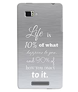 Fuson 3D Printed Quotes Designer back case cover for Lenovo K910 - D4545