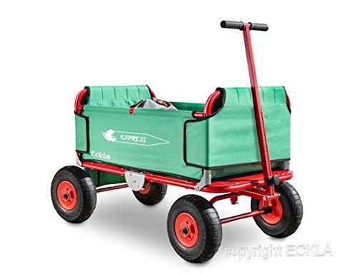 Preisvergleich Produktbild ECKLA-Express Faltbollerwagen / mit Luftbereifung / Made in Germany / Maße: 1150 x 550 x 650 mm / Ladefläche: 82x45 cm