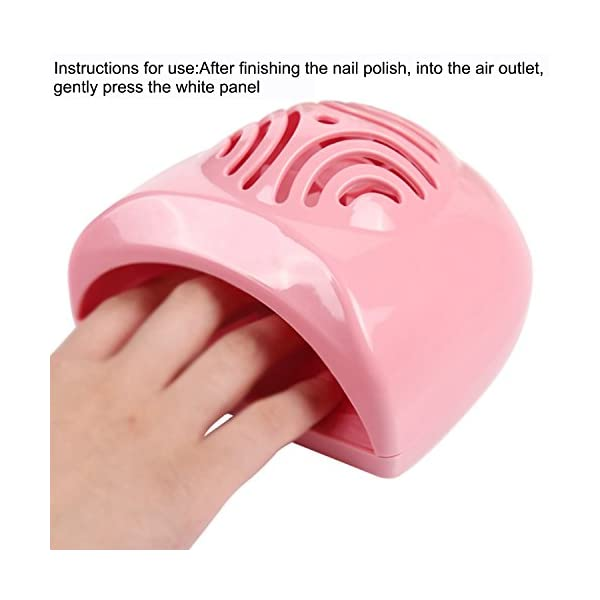 Sasairy Mini Secador de Uñas Dedo Toe polaco secado rápido al aire herramienta profesión máquina de uñas secador de…