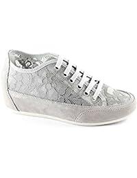 IGI & CO 57877 de la perla zapatos grises de los deportes zapatillas de deporte cordones cordón zeppetta
