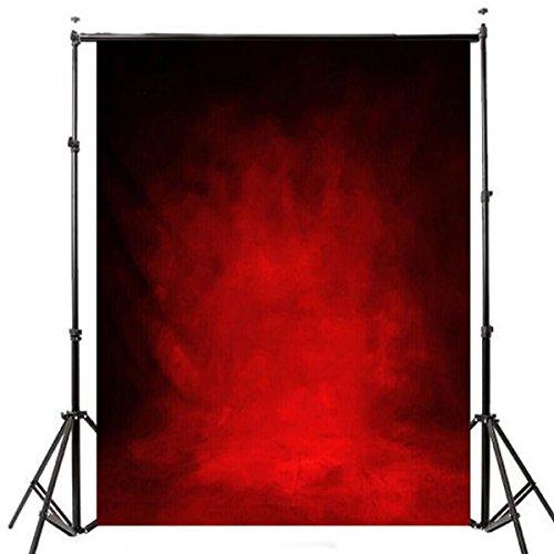 Werse 1.5x0.9m Fotografischer Vinylhintergrund-Retro Rote Bindungs-Gef?rbte Studio-Hintergrund-St¨¹Tzen