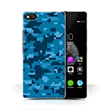 Stuff4 Hülle / Case für ZTE Nubia Z9 Mini / Blau Digital