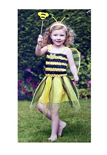 Islander Fashions Bumble Bee Lady Bird Kleinkind Kost�m M�dchen Kost�m Buch Woche Tag Outfit Unter Biene Kost�m 4 Jahre