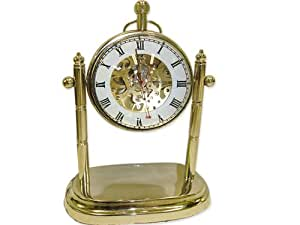 horloge nickel loupe rouages apparent pendule engrenages squelette skelton cuisine. Black Bedroom Furniture Sets. Home Design Ideas