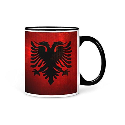 Tasse Kaffeetasse Albanien Fahne 1