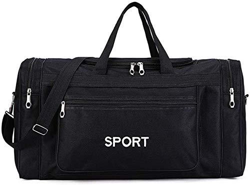 ERSHUO Sporttasche Sporttasche, Reise Weekender Sports Workout Duffel Schwimmsporttasche Unisex für Mann-Frauen,Black