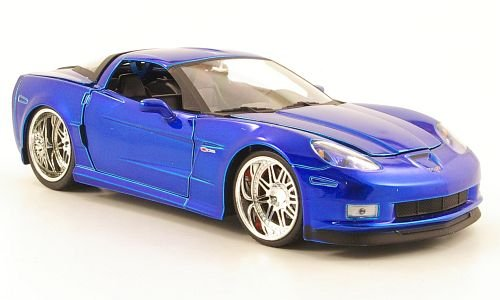 Chevrolet Corvette Z06 Tuning, blue, 2006, Modellauto, Fertigmodell, Jada 1:24