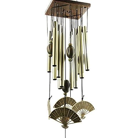 BXT Carillons à Vent Bronze Cour Jardin Extérieur Pendentif Tubes Carillon À Clochettes Metalliques Living Wind Chimes Carillon à Vent Suspendu Chanceux Chinois Cadeau pour Maison Forme