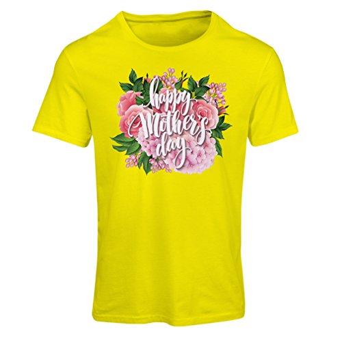 Maglietta Donna Buona Festa della Mamma - regali perfetti figlia Madre, figlio, marito Giallo Multicolore