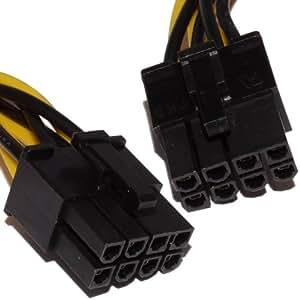 8 Broches PCI Express PCIe Alimentation câble Mâle Vers Mâle 40 cm