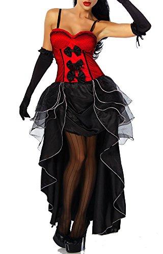 Imagen de atixo yourdesignerz ricachonas cabaret disfraz para mujer rosa/negro multicolor talla medium