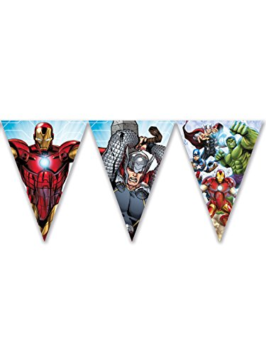 Procos Wimpelkette Avengers Mighty, mehrfarbig, 5PR87971 (Marvels Avengers Party Supplies)