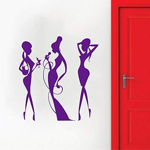 zhuziji Bar Vinyl Wandtattoo Cocktail Party Trinken Nachtclub Mode Wandaufkleber Wohnzimmer Schlafzimmer Modern Home Decorati 42x44 cm