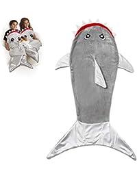 Comtervi Sirena Cola de Techo, Doble de Forro Polar de tiburón de Saco de Dormir, Warmer – Saco de Dormir Infantil,…