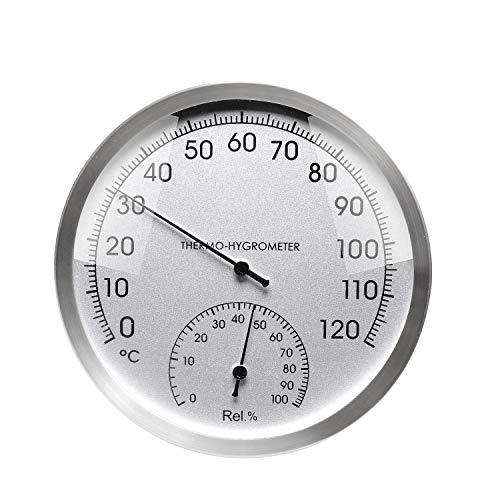 KKmoon Indoor Outdoor Thermometer Hygrometer Wand Feuchtemessgerät Anzeige Analog Temperatur Feuchtemessgerät für Saunen