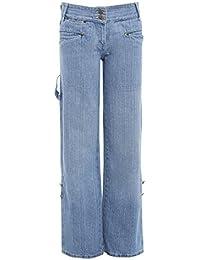 SS7 FEMMES Garçon Jeans en vrac bleu denim jeans femmes taille 10 12 14 8 5eed87cba692