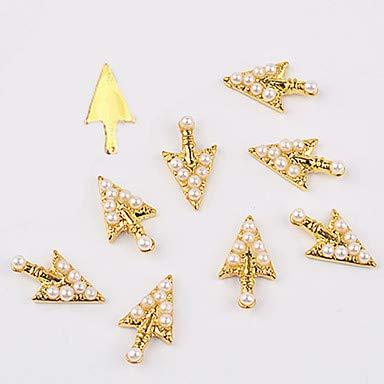 10 Stücke Pfeile Form Legierung 3D Nail art Dekoration Glitzernde DIY Schöne Mädchen Schöne Glamour Nail Sticker