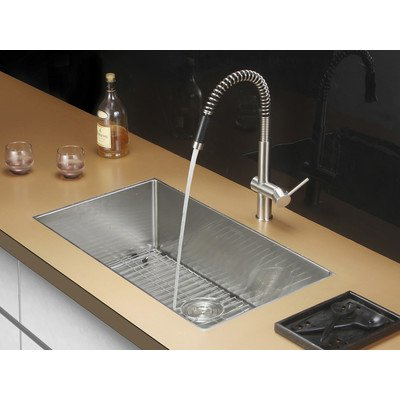 Ruvati RVH7400 Unterbau 16 Gauge 32 in. Kitchen Sink Single Bowl - 16 Bowl Kitchen Gauge Single Sink