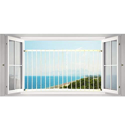XJJUN Erkerfensterzaun Baby Zaun Diebstahlschutzfenster Hochhaus Sicherheit Leitplanke Wohnzimmer Metall Stark Tragen, Größe Kann Besonders Angefertigt Werden