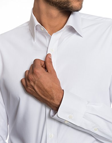 EMBRÆR -  Camicia classiche  - Basic - Classico  - Maniche lunghe  - Uomo Bianco